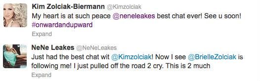 Nene  & Kim tweets
